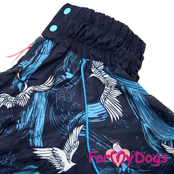 "Regnoverall ""Blue Wings and Waves"" Hane ""For My Dogs"""