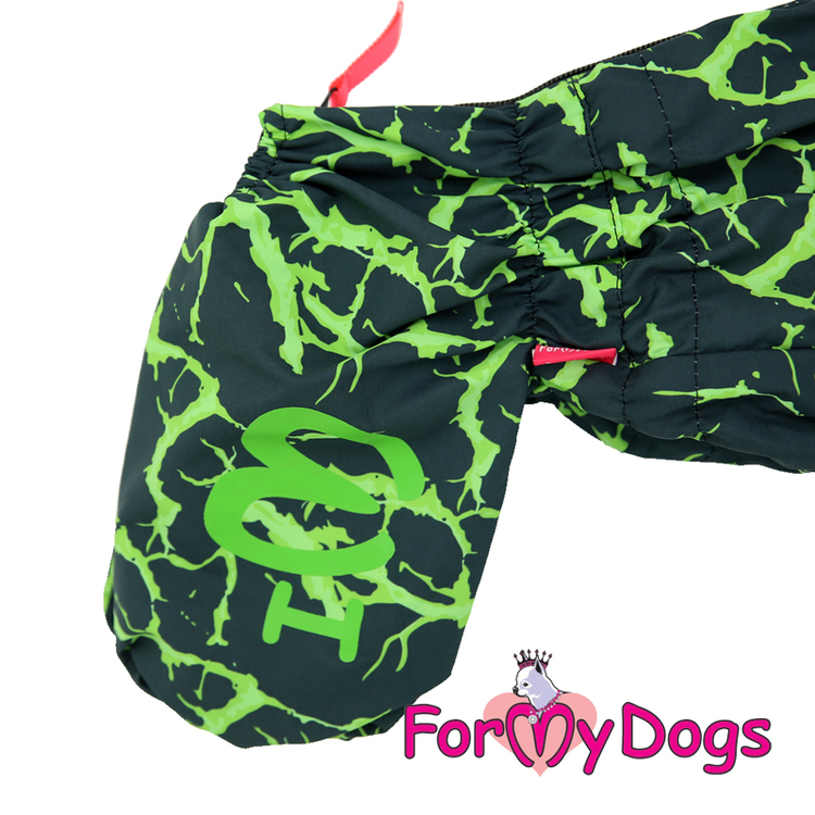 """Regnoverall """"Green Abstract Sparkle"""" Hane """"For My Dogs"""""""