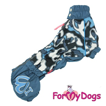 "Regnoverall ""Blue Camouflage"" Hane ""For My Dogs"""