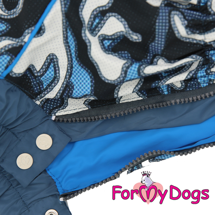 """Regnoverall """"Blue Camouflage"""" Hane """"For My Dogs"""""""