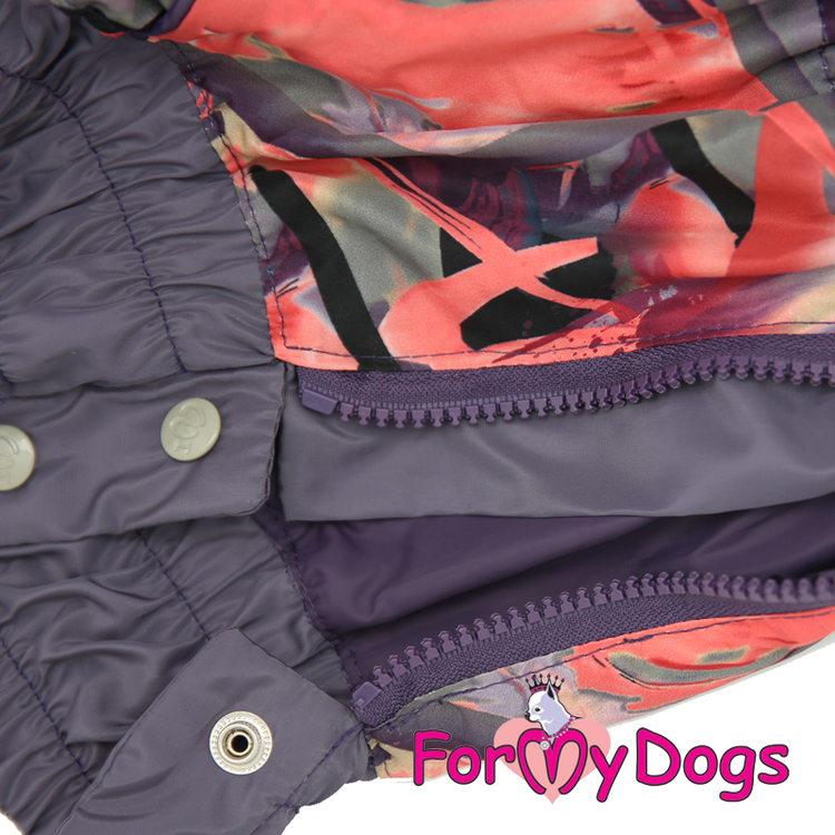 """Regnoverall """"Purple and Grey Abstract"""" Tik """"For My Dogs"""""""
