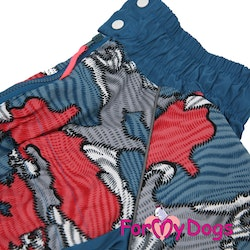 "Regnoverall ""Patchwork Pattern"" Hane ""For My Dogs"""