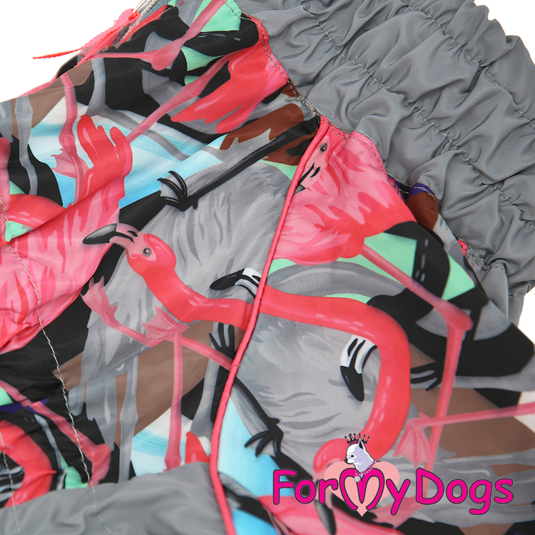 """Regnoverall """"Grey Flamingo"""" Tik """"For My Dogs"""""""