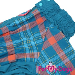 "Regnoverall ""Blue Plaid Pattern"" Hane ""For My Dogs"""