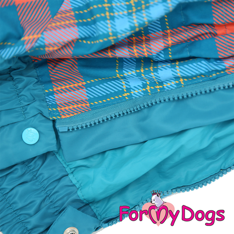 """Regnoverall """"Blue Plaid Pattern"""" Hane """"For My Dogs"""""""