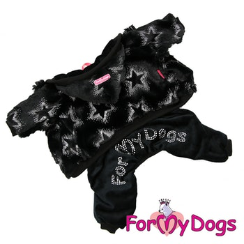 "Suit Trikåoverall ""Black Crystal Stars"" Unisex ""For My Dogs"""