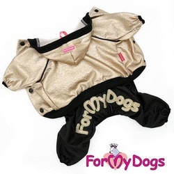 "Mysdress pyjamas Trikå overall ""Guld/svart"" Unisex ""For My Dogs"""