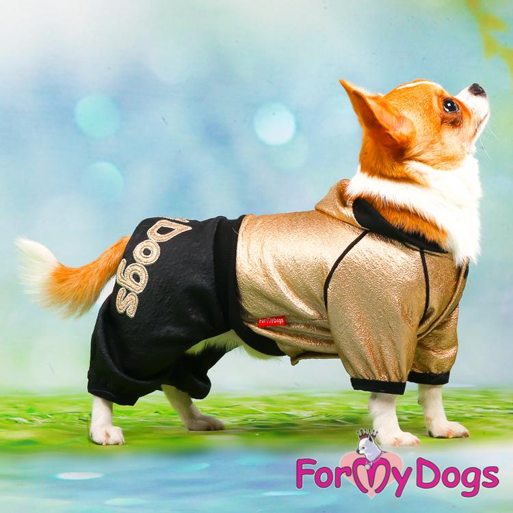 "Mysdress pyjamas Trikå overall ""Guld/svart"" Unisex ""For My Dogs"""