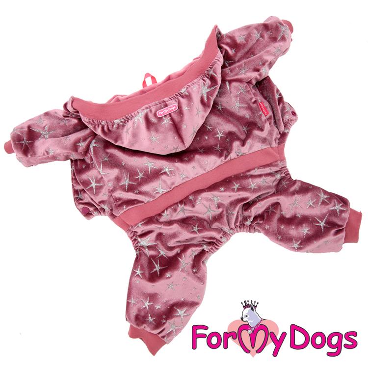 "Varm Mysdress Pyjamas overall ""Rosa stjärnor"" Unisex ""For My Dogs"""