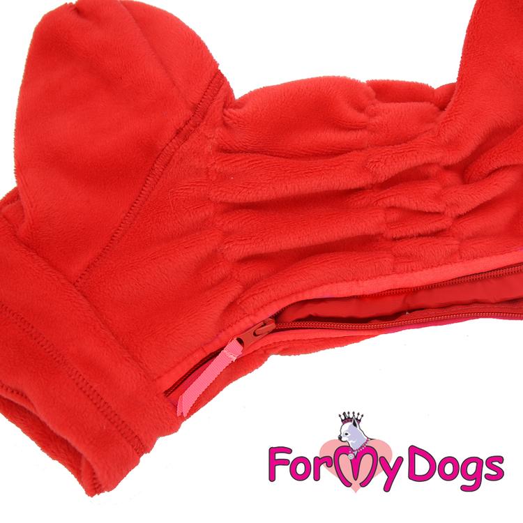 "Fleeceoverall ""Röd Plysh"" Tik ""For My Dogs"""