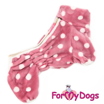 "Fleeceoverall ""Rosa Polkadot"" Tik ""For My Dogs"""
