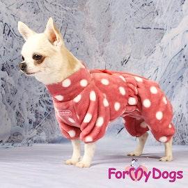 "Fleeceoverall ""Rosa Polkadot"" Tik ""For My Dogs"""
