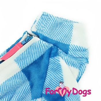 "Varm pyjamas overall ""Blå Ruta"" Hane ""For My Dogs"""
