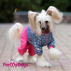 "Varm Mysdress pyjamas overall ""Rosa Paljetter"" UNISEX ""For My Dogs"""
