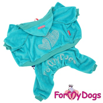 "Mysdress pyjamas overall ""Blå Strass"" UNISEX ""For My Dogs"""