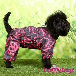 """Regnoverall """"Rosa Abstrakt"""" Tik """"For My Dogs"""""""