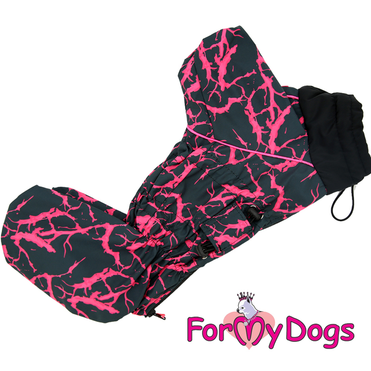 "Regnoverall ""Rosa Abstrakt"" Tik ""For My Dogs"""