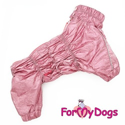 "Regnoverall ""Pink Metallic"" Tik ""For My Dogs"""