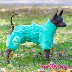 """Varm Pyjamas Overall """"Grön"""" Tik """"For My Dogs"""""""