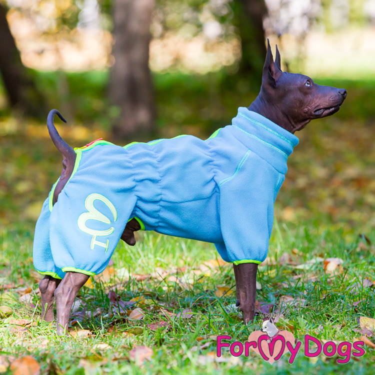 """Suit Fleece Overall """"Blue"""" Hane """"For My Dogs"""""""
