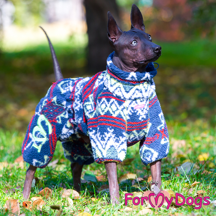 """Suit Fleece Overall """"Multi Blue"""" Hane """"For My Dogs"""""""