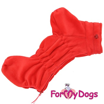 """Fleeceoverall """"Red"""" Tik """"For My Dogs"""""""