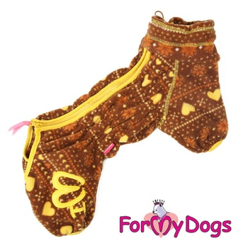 "Fleeceoverall ""Brun allmoge"" Hane ""For My Dogs"""