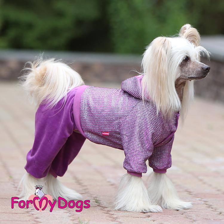 "Varm Mysdress pyjamas overall ""Lila Glitter"" UNISEX ""For My Dogs"""