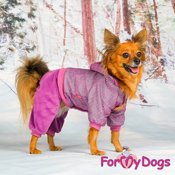 "Varm Mysdress pyjamas overall ""Lila Glitter"" UNISEX ""For My Dogs"""