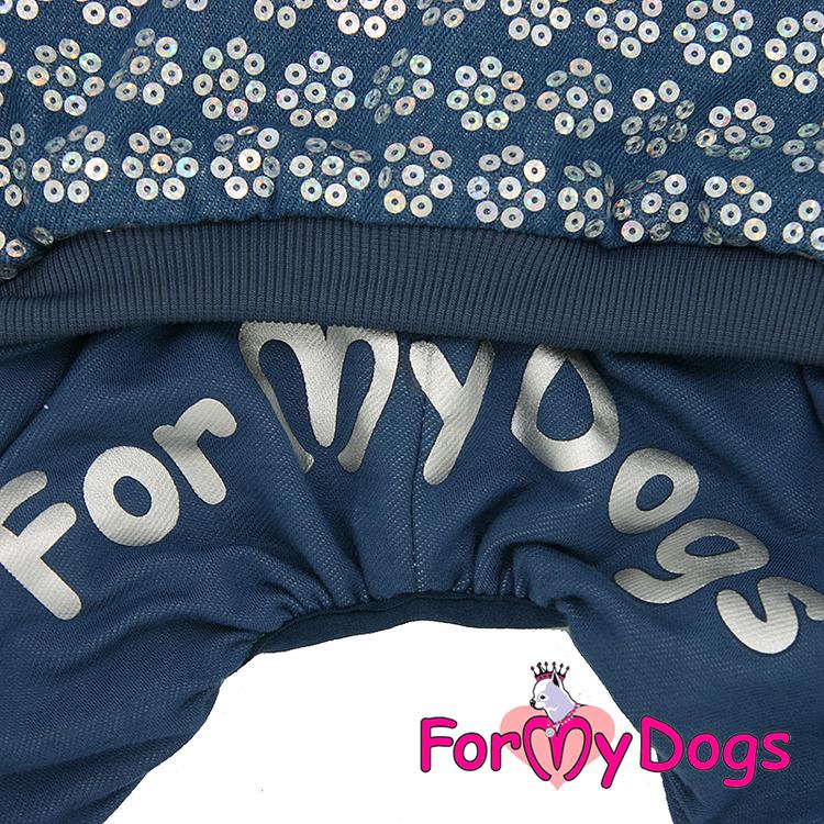 """Varm Mysdress pyjamas overall """"Blå Paljetter"""" UNISEX """"For My Dogs"""""""