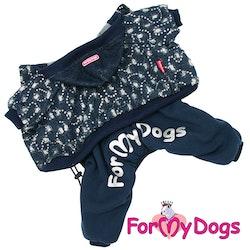 """Varm Mysdress pyjamas overall """"Blå Paljett"""" UNISEX """"For My Dogs"""""""