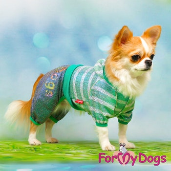 "Mysdress pyjamas overall ""Grön glitter"" UNISEX ""For My Dogs"""