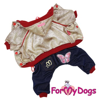 "Mysdress pyjamas overall ""guld jeans"" UNISEX ""For My Dogs"""