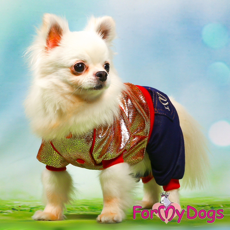 "Mysdress pyjamas overall ""guld jeans"" UNISEX ""For My Dogs"""