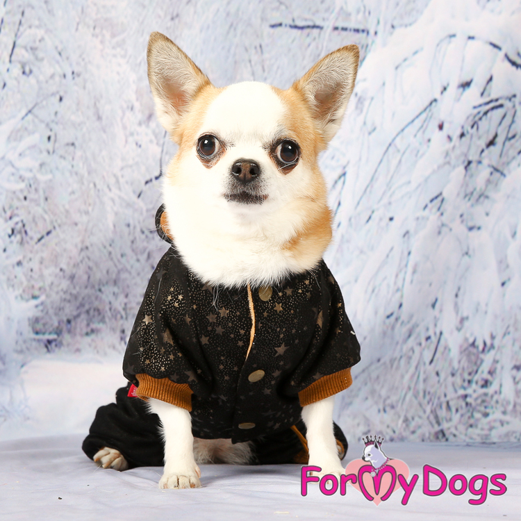 "Varm Mysdress Pyjamas overall ""Svart Koppar"" Unisex ""For My Dogs"""