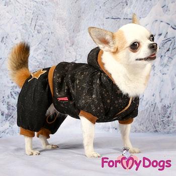 "Varm Mysdress Pyjamas overall ""Svart Koppar"" Unisex ""For My Dogs"""