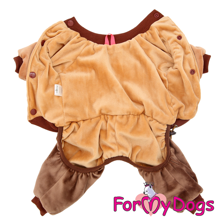 "Varm Mysdress Pyjamas overall ""Love Brun"" Unisex ""For My Dogs"""