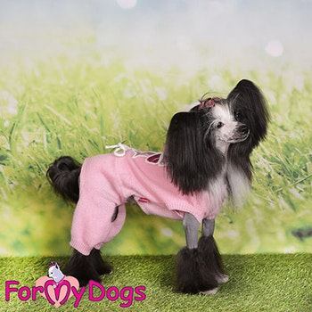"Stickad Mysdress Pyjamas overall ""Rosa Rosett"" Unisex ""For My Dogs"""