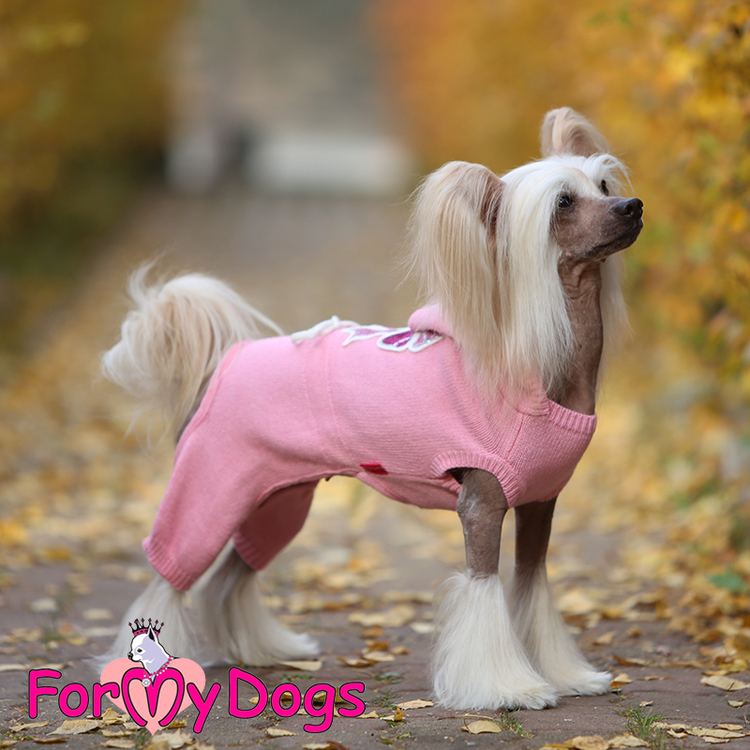 "Stickad Mysdress Pyjamas overall ""Rosa Rosett"" Unisex ""For My Dogs"""