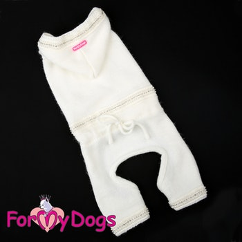 "Stickad Mysdress Pyjamas overall ""Pärlor och strass"" Unisex ""For My Dogs"""