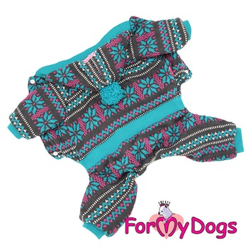 "Varm stickad Mysdress Pyjamas overall ""Allmoge"" Unisex ""For My Dogs"""