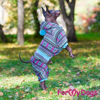 "Varm stickad Mysdress Pyjamas overall ""Allmoge"" Unisex ""For My Dogs"""