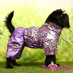 "Regnoverall ""Lila Leopard"" Tik ""For My Dogs"""