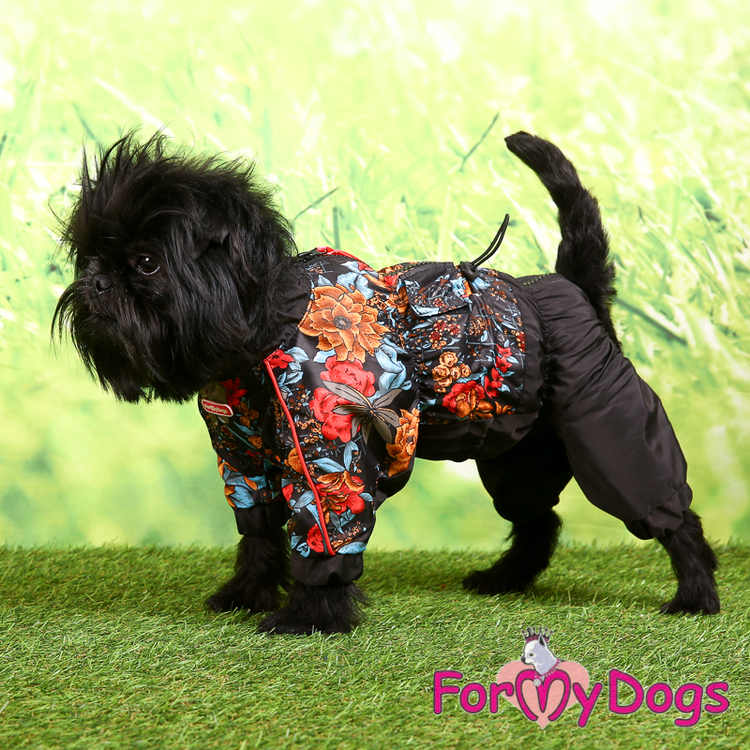 """Regnoverall """"Black Flowery"""" Tik """"For My Dogs"""""""