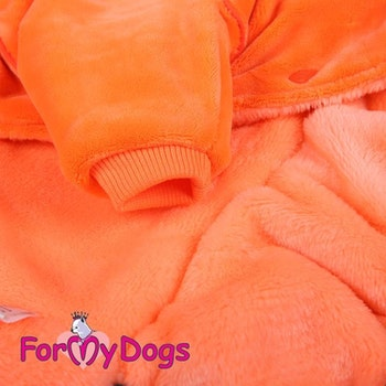 "Varm Mysdress pyjamas overall ""Black Orange"" UNISEX ""For My Dogs"""