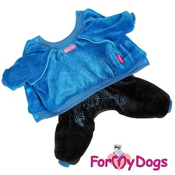 "Varm Mysdress pyjamas overall ""Black Midnight"" UNISEX ""For My Dogs"""