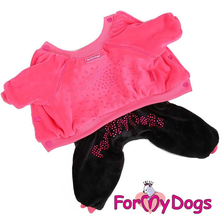 "Varm Mysdress pyjamas overall ""Black Fuchsia"" UNISEX ""For My Dogs"""