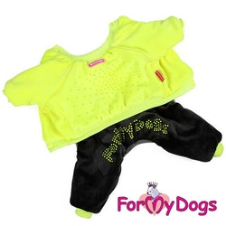 "Varm Mysdress pyjamas overall ""Black Lemon"" UNISEX ""For My Dogs"""