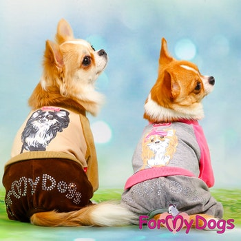 "Mysdress pyjamas overall ""Brun Chihuahua"" UNISEX ""For My Dogs"""