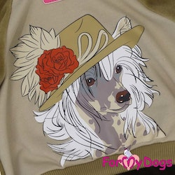 "Mysdress pyjamas overall ""Brun Chinese Crested Dog"" UNISEX ""For My Dogs"""